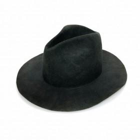 レナードプランク REINHARD PLANK ワックス コーティング 加工 中折れハット 帽子 ウール フェルト LAILA OPEN LAPIN グリーン 緑 SIZE13 XL 6589972175 col.950