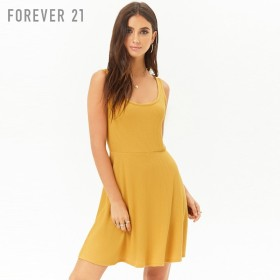 FOREVER21 フォーエバー21 【リブスケーターワンピース】(5,000円以上購入で送料無料)