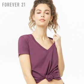 FOREVER21 フォーエバー21 【ベーシックVネックスポーツTシャツ】(5,000円以上購入で送料無料)