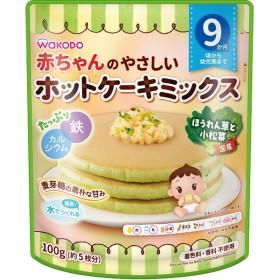 赤ちゃんのやさしいホットケーキミックス ほうれん草と小松菜 食品 おやつ(お菓子) 9ヵ月~のおやつ (33)