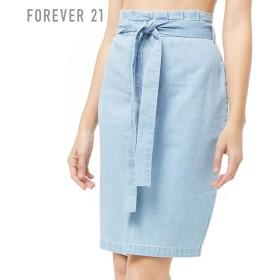FOREVER21 フォーエバー21 【デニムペーパーバッグスカート】(5,000円以上購入で送料無料)