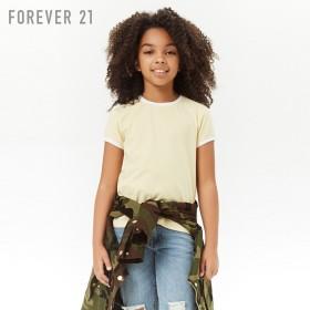 FOREVER21 フォーエバー21 【[KIDS]コントラストリンガーTシャツ】(5,000円以上購入で送料無料)