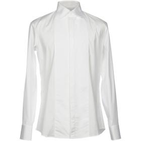 《セール開催中》DSQUARED2 メンズ シャツ ホワイト 48 コットン 97% / ポリウレタン 3%