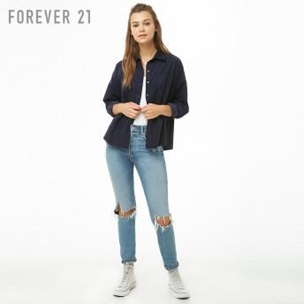 FOREVER 21 コーデュロイポケットシャツ