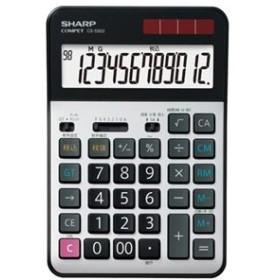 シャープ 実務電卓 12桁セミデスクタイプ CS-S952-X 1台