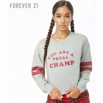 FOREVER21 フォーエバー21 【You Are A Total Champトップ】(5,000円以上購入で送料無料)