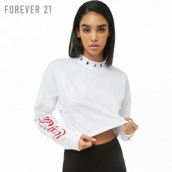 FOREVER21 フォーエバー21 Coca-ColaクルーネックTシャツ