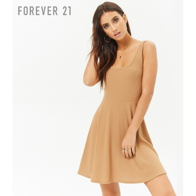 FOREVER21 フォーエバー21 リブスケーターワンピース