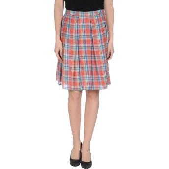 《9/20まで! 限定セール開催中》BAND OF OUTSIDERS レディース ひざ丈スカート 赤茶色 1 コットン 85% / 麻 15%