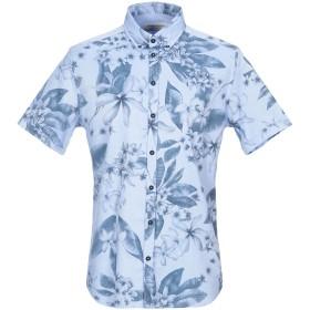 《期間限定 セール開催中》HAMAKI-HO メンズ シャツ スカイブルー L コットン 100%