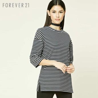 FOREVER21 ボーダーオーバーサイズTシャツ