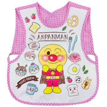 袖なしエプロン アンパンマン ピンク 育児用品 お食事用品 エプロン (99)