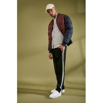 ジャケット・ブルゾン - FOREVER 21【MEN】 【カラーブロックパファージャケット】アウター ジャケット 赤 レッド XS S M L 長袖