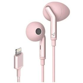 [ノイズキャンセリング機能搭載]ライトニングイヤホン(ローズピンク) Q ADAPT IN-EAR LI0030000AS6007アカ