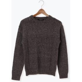 ニット・セーター - Lugnoncure フロントケーブル編みプルオーバー