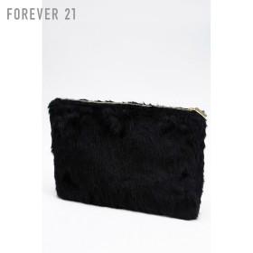 FOREVER21 フォーエバー21 【フェイクファービッグクラッチバッグ】(5,000円以上購入で送料無料)