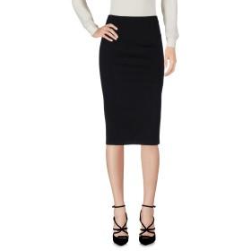 《期間限定 セール開催中》ALICE + OLIVIA レディース ひざ丈スカート ブラック 6 羊革(ラムスキン) 100%