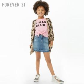 FOREVER21 フォーエバー21 【[KIDS]Girls ClubフロントタイTシャツ】(5,000円以上購入で送料無料)