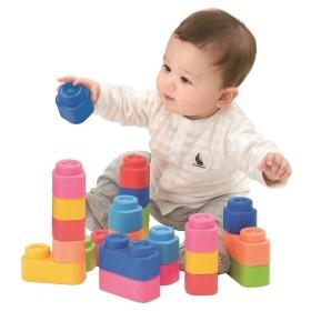baby Clemmy やわらかブロック 基本セットボックス おもちゃ おもちゃ・遊具・三輪車 ベビートイ (233)