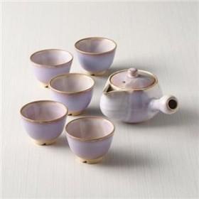萩むらさきゆり 茶器5客揃(茶こし付)
