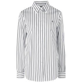 《セール開催中》LAUREN RALPH LAUREN レディース シャツ ホワイト S コットン 96% / ポリウレタン 4% Striped Button Down Shirt