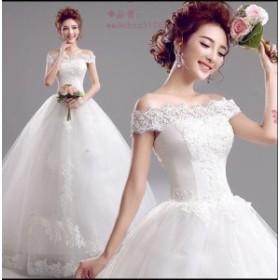 花嫁 パーティードレス ウェディングドレス 素敵 ウエディングドレス ワンピース大きいサイズ プリンセスライン 二次会 ブライダル 結婚