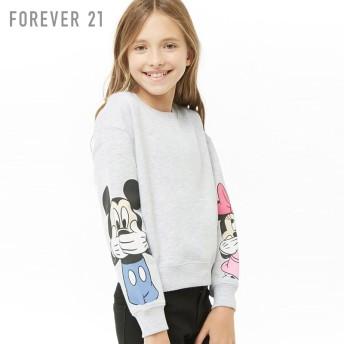 FOREVER21 フォーエバー21 【[KIDS]Mickey & Minnie Mouseスウェット】(5,000円以上購入で送料無料)