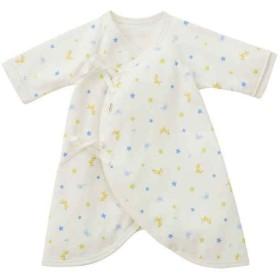 新生児 ミキハウス ホットビスケッツ コンビ肌着 ブルー インナー・パジャマ 新生児・乳児(50~80cm) 長下着・コンビ肌着 (35)