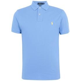 《期間限定セール開催中!》POLO RALPH LAUREN メンズ ポロシャツ パステルブルー XS コットン 100% Slim Fit Polo