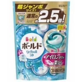 P&G ボールド ジェルボール3D 爽やかプレミアムクリーンの香り つめかえ用 超ジャンボ 44個入り