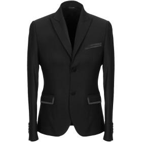 《期間限定 セール開催中》DANIELE ALESSANDRINI メンズ テーラードジャケット ブラック 48 ポリエステル 67% / レーヨン 31% / ポリウレタン 2%