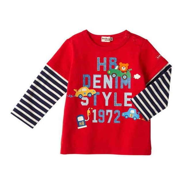 5980e2f60b40e  キッズ ミキハウス ホットビスケッツ Tシャツ 赤 ベビー・キッズウェア キッズ(100~