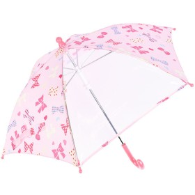 [40・45cm]傘 リボンハート パープル シューズ・ファッション小物 レイングッズ 傘 (53)