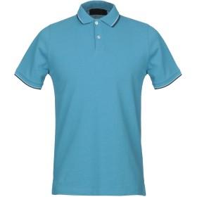 《期間限定セール開催中!》LES COPAINS メンズ ポロシャツ ブルーグレー 46 コットン 100%