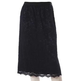 INED L / イネド(エルサイズ) 《大きいサイズ》総レースタイトスカート