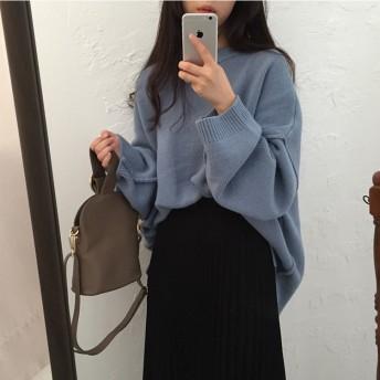 限定発売 高品質で 韓国ファッション/大人気/CHIC気質/長袖/暖かい/厚手/ニットトップス/セーター
