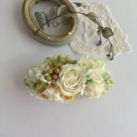薔薇と紫陽花とデイジーのコーム