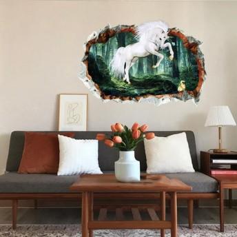 ウォールステッカー 壁紙ステッカー 壁ステッカー 壁シール インテリア雑貨 装飾 模様替え イメージチェンジ 寝室 リビング 子供部屋 ユニコーン 森