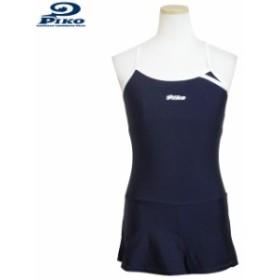 スクール水着 女の子 キッズ ジュニア PIKO(ピコ) 子供 ワンピース スイミング 女子 学校 プール 水着 紺 全1色