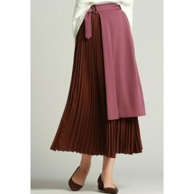Droite lautreamont ポリエステルシフォンラップスカート その他 スカート,ピンク系その他