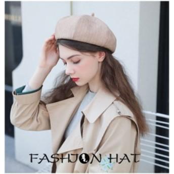 ベレー帽 キャップ 帽子 八角ベレー帽 レディース ハット ボーダー 新品 送料無料