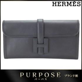 未使用 展示品 エルメス HERMES ジジェ エラン クラッチ バッグ スイフト ブラック X刻印
