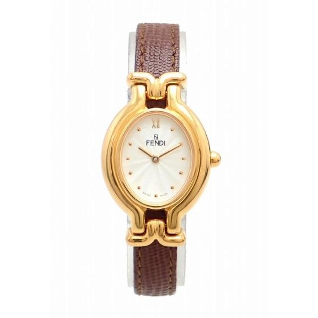 7526670e1d (ウォッチ)FENDI フェンディ チェンジベルト GP 革ベルト ホワイト文字盤 レディース クォーツ 腕時計