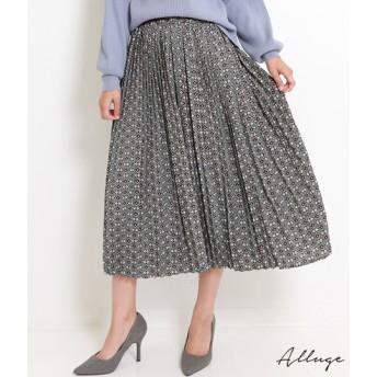 【セール開催中】ANAP(アナップ)小紋柄プリントプリーツスカート