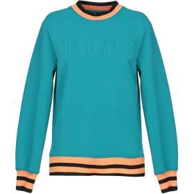 《セール開催中》VERSUS VERSACE レディース スウェットシャツ ターコイズブルー XS 51% ナイロン 45% ポリエステル 4% ポリウレタン