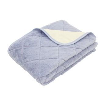 NISHIKAWA LIVING すべり止め付き ゴムなし あったか敷きパッド シングル 100/205cm○207272311 ブルー 中材・ベッドウェア