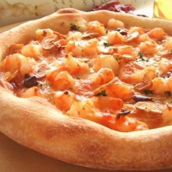 【天然酵母ピザ】 海老と帆立貝のガーリックソースピザ 20cm