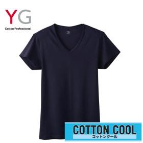 GUNZE グンゼ YG(ワイジー) 【COTTON COOL】VネックTシャツ(メンズ) ホワイト L