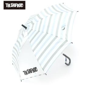 TKSAPKID トドラー傘 ボーダー 薄アオ レイングッズ 傘 MJ102501
