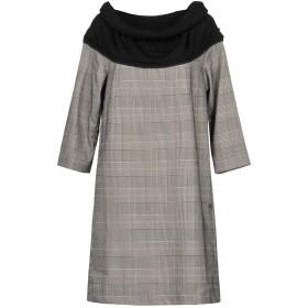 《セール開催中》SCEE by TWINSET レディース ミニワンピース&ドレス ブラック L ポリステロール 85% / レーヨン 13% / ポリウレタン 2%